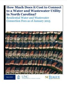 How much does it cost to connect to a water and wastewater utility in north carolina