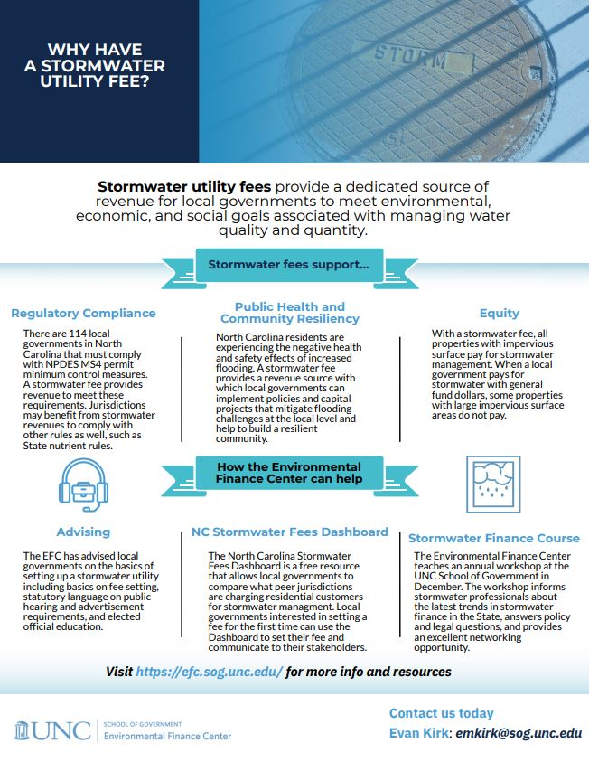 Image of the Stormwater Fees one-pager, click to download