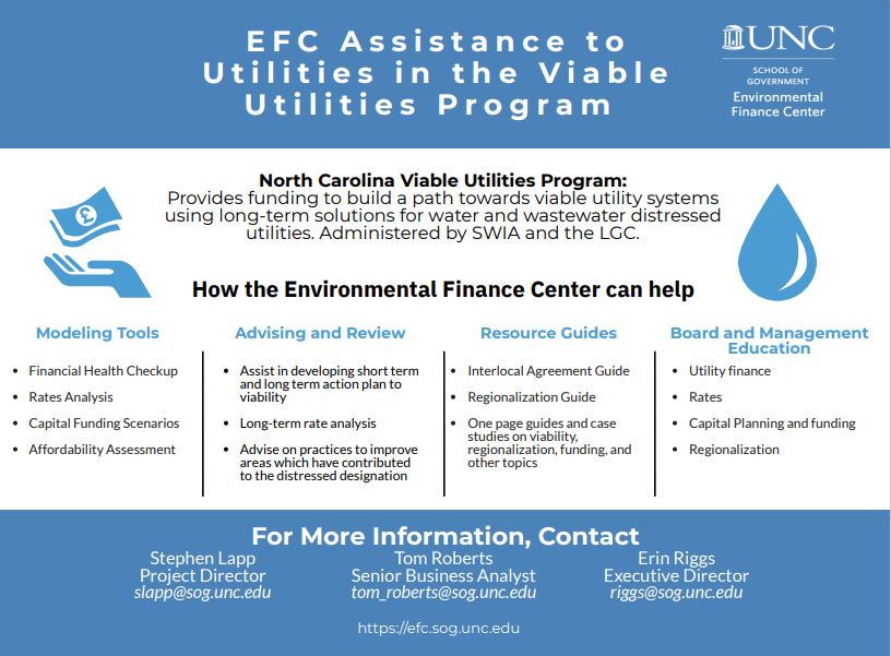 EFC Assistance to utilities in the Viable Utilities Program one pager